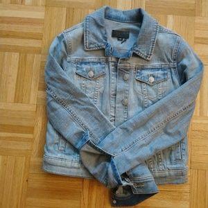 DKNY cropped Denim Jacket Light Wash XXS
